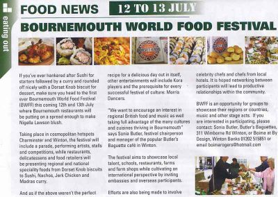 Bournemouth World Food and Music Festival